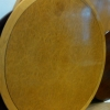 1.8m round Table, birds eye maple.£295 + vat