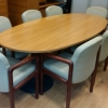 2.4 x 1m Meeting room table, one piece. Chairs are £65 each + vat