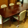 3.5m x 1.2, Gordon Russell rosewood table, two piece. £495 + vat